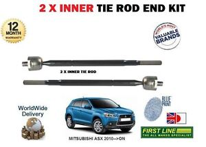 FOR MITSUBISHI ASX 2010->NEW 2x INNER STEERING TRACK RACK ROD TIE END SET