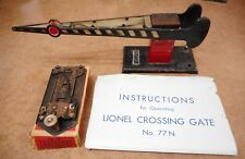 Lionel Prewar (1936) Instructions for No 77N Crossing Gate & No 41 with Box