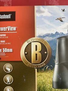 POWERVIEW 10X50MM BINOCULARS - BLACK - Bushnell 131056