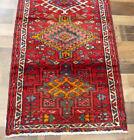 """2'3""""x7'8"""" Authentic Handmade wool Herizz Karajeh Oriental vintage rug runner"""