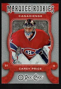 Carey Price 2007-2008 O-PEE-CHEE Rookie card #560