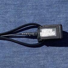 Pacific Vibrations Surfboard Ankle leash 6Ft Black 7mm double swivels 6 Ft