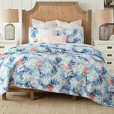 COASTAL LIVING® COASTAL PALM TWIN 2 PC REVERSIBLE MINI QUILT SET NEW