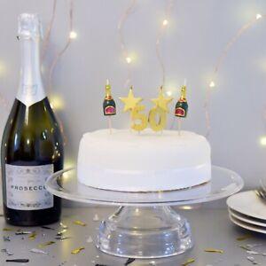 PREMIUM 3D 50th Milestone Cake Candles, Birthday Cake, Cake Topper