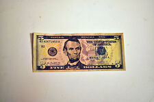 FANCY serial number has no matching numbers FEDERAL RESERVE  2013 $5 BILL