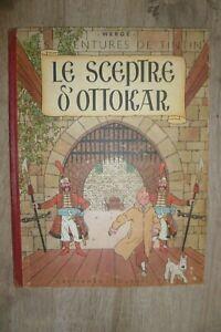 Tintin Le Sceptre d'Ottokar Edition Originale couleur B1 pull 2 couleurs 1947