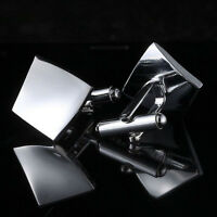 Silver Rhombus Stainless Men's Cuff Links mens Wedding party Gift Cufflinks WB