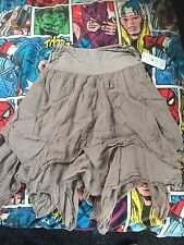 Gorgeous grey green ragged skirt - steampunk goth emo steam punk star wars rey