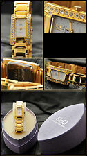 "Q&Q Women's Watch "" Superior "" Complete Stainless Steel Gold-Plated with"