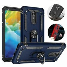 For LG Stylo 5/5 Plus/5X Case Hybrid Shockproof Ring Stand Holder Phone Cover