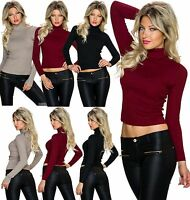 NEW SEXY WOMEN CLUBBING SHIRT LADIES POLO TOP BLOUSE JUMPER SWEATER SIZE 6 8 10