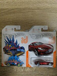Hot Wheels Aston Martin One ID and Motosaurus ID