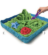 New Nib Green Kinetic Sand Sandbox Sandcastle Play Set Mold Sand Tools