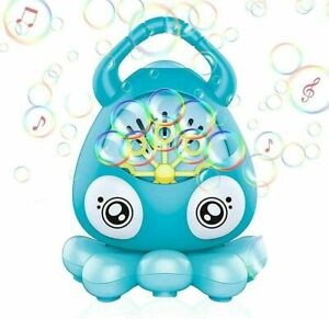 Automatic Bubble Machine for Kids Toddlers Octopus Musical Bubble Blower