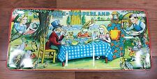 "Vtg 20"" 1950s Alice in Wonderland Tin Litho PAGE LONDON Watercolor Paint Box"