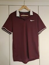 Nike Golf Dri-Fit Standard Fit Mens Medium Golf Shirt Polo Shirt maroon
