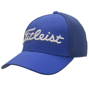 Titleist Golf Front Panel Tour Sport Mesh Fitted Hat NEW