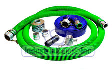"""3"""" Epdm Rubber Mud Suction Hose Comp. Camlock Kit w/100' Blue Discharge (Fs)"""