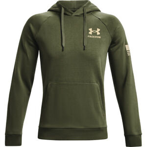Under Armour 1370806 Men's UA Freedom Flag Rival Long Sleeve Tactical Hoodie