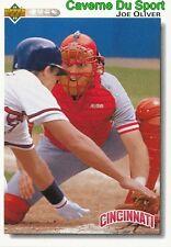 101 JOE OLIVER CINCINNATI REDS  BASEBALL CARD UPPER DECK 1992