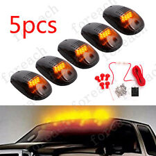 Smoked LED Cab Roof Running Marker Lights for Truck SUV Off Road X 5