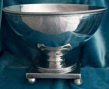 Federal Coin Silver Waste or Slop Bowl Anthony Simmons, Philadelphia, Circa 1800
