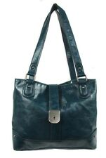 STYLE & CO TWIST-LOCK Turquoise Faux  Leather Tote Bag Msrp $88.50