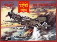 ICM 48104 - 1/48 German Fighter-bomber BF 109F-4/B WWI plastic model scale model