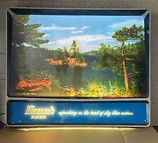 "Hamm'S Beer Vintage 1950's Lighted Tv Rippler Motion Sign ""Refreshing As."""