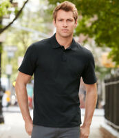MENS PREMIUM COTTON POLO SHIRT Adult Gildan Double Pique GD43 Plain 21 COLOURS