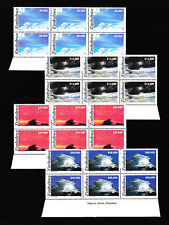 Zimbabwe 2005 Clouds Imprint Blocks, MNH (sheet margin)
