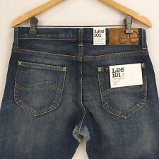 Lee 101z Lot 49 Distressed Indigo Blue Selvedge Straight 13oz Jeans W31 L34 New
