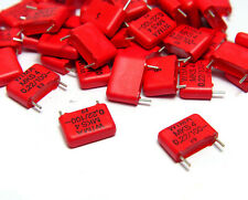 100x Wima MKS4 / MKS 4 Kondensator, 0.22 µF / 100 V DC, RM10, Capacitors, NOS