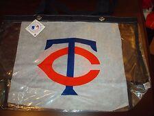 MINNESOTA TWINS CLEAR MLB Canvas Bag Purse Beach Travel Tote Womens Handbag