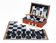 JigChess Chess Set - Chess board jigsaw puzzle, Chess pieces and wooden box