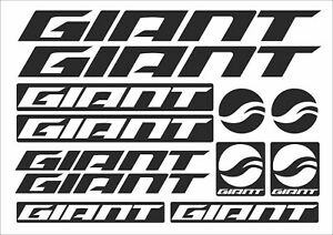 GIANT frame stickers decals vinyl bicycle mtb bmx road bike black white red new