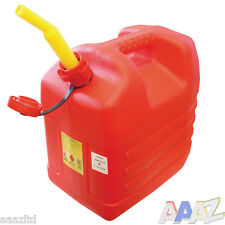20L RED PLASTIC FUEL JERRY CAN PETROL DIESEL WATER 20 LITRE WITH SPOUT