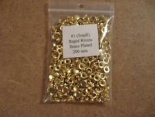 Small (Size #1) Rapid Rivets Nickel, Brass, Antique (200 pack)