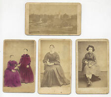 4 BLATT PHOTOGRAPHIC EMPORIUM BERNVILLE PA. INCL. CHURCH & GRAVEYARD, CDV PHOTOS