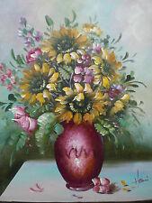 Ölgemälde Blumen -Öl auf Leinwand- ohne Rahmen