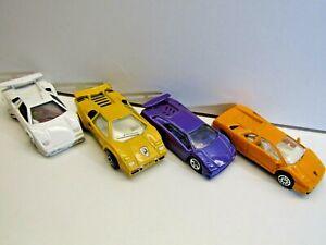 Hotwheels, Matchbox & Unknown - Set of 4 Lamborghini including Countach LP500S