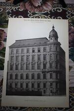 1886 5/Vienna i Grillparzer strada Julius cavalieri di Leon architetto di Ferstel
