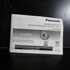 Panasonic Lumix H - H020 Manuel D'utilisation Objektif 20mm f1.7 O401850