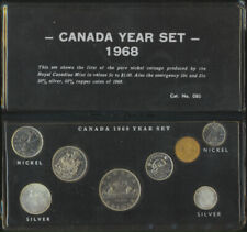 Canada 1968 Year Coin Set Includes Silver 10 25 Cents in Custom Folder