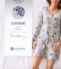 CALIDA Damen Nachthemd Gr. XL Gr. 52 Sleepshirt 34023  langarm online günstig