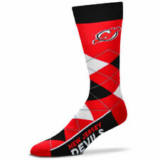 New Jersey Devils Men's Crew Socks One Size Fits Most Argyle Lineup