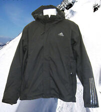 NEW Mens adidas TRAIL Dual Layer Fleece Lined Jacket Black M
