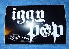 IGGY POP - 2003 SKULL RING PROMO STICKER CONCERT SOUVENIR NEW