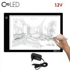 A4 LED Light Stencil Art Board Box Tracing Drawing Table Tattoo Pad + Adapter