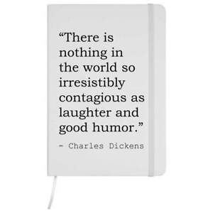 Funny Quote By Charles Dickens A5 Ruled Notebooks / Notepads (NB122226)